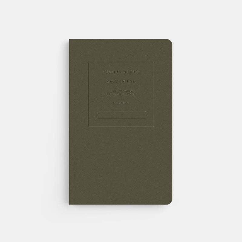 Public - Supply - Embossed Soft Cover Notebook (5 different colours)
