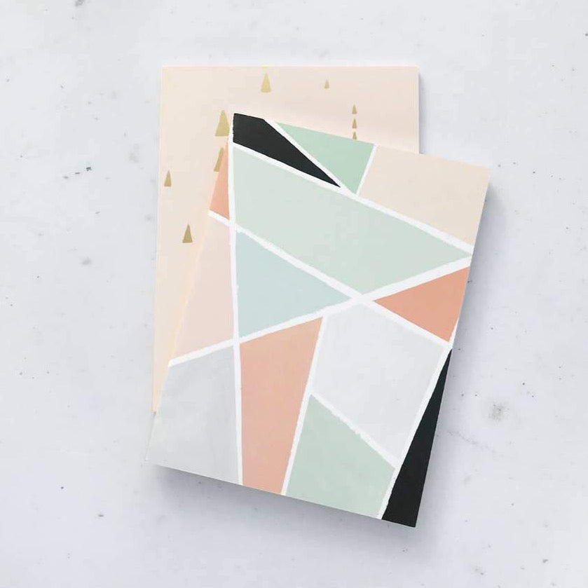 Geometric Duo Pocket Note Books