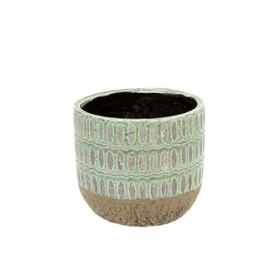 Indaba Trading Co. Ennis Flower Pot-Green