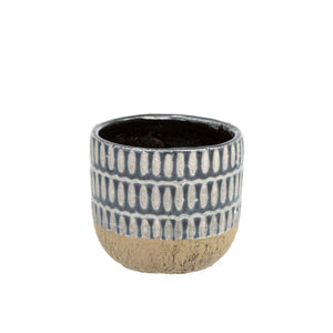 Indaba Trading Co. Ennis Flower Pot-Black