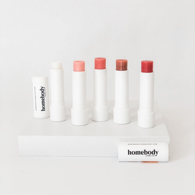 homebody candle co. lip balms