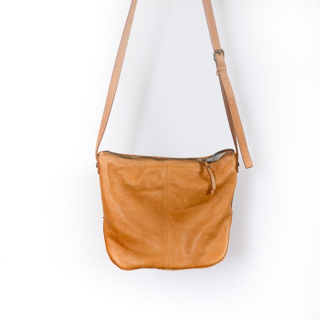 American Leather Tan Crossbody Bag