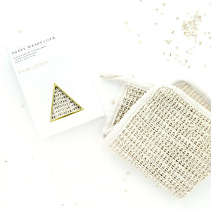 Nash and Jones Agave Fiber Washcloth Vegan Cruelty Free