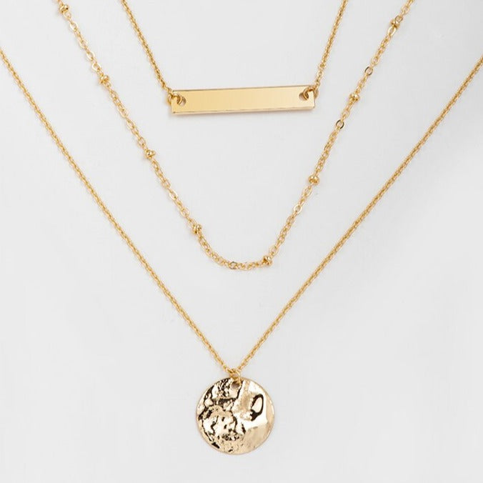 Hunter & Hare Tiered Moon Charm Necklace