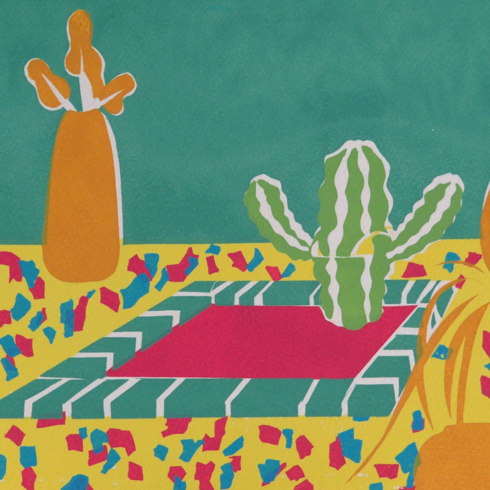Lyndsey Illustrations Hot Tub Cactus Detail Shot