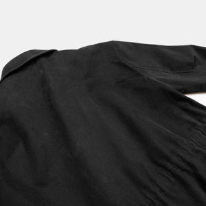Oak + Fort Black Utility Coat Back