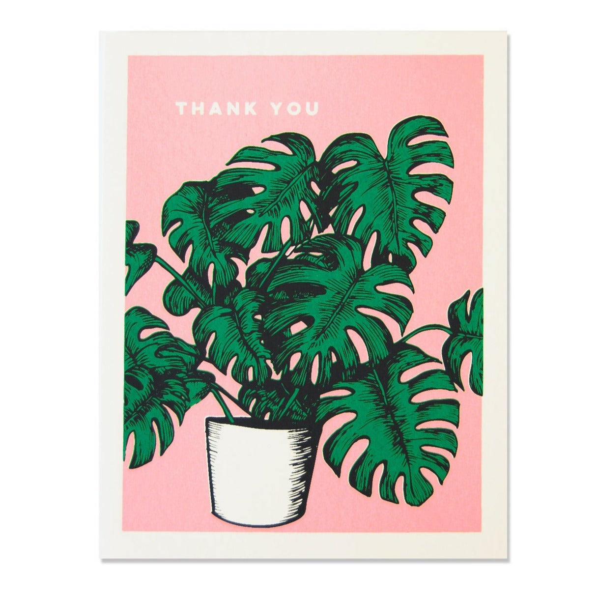 The Good Days Print Co. Monstera Thank You Card