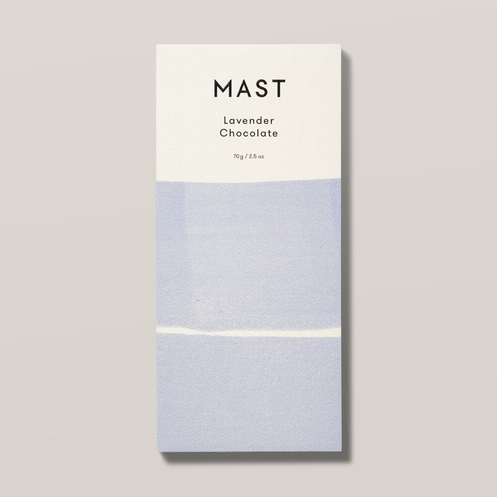 Mast Chocolate Lavender Chocolate Bar Front