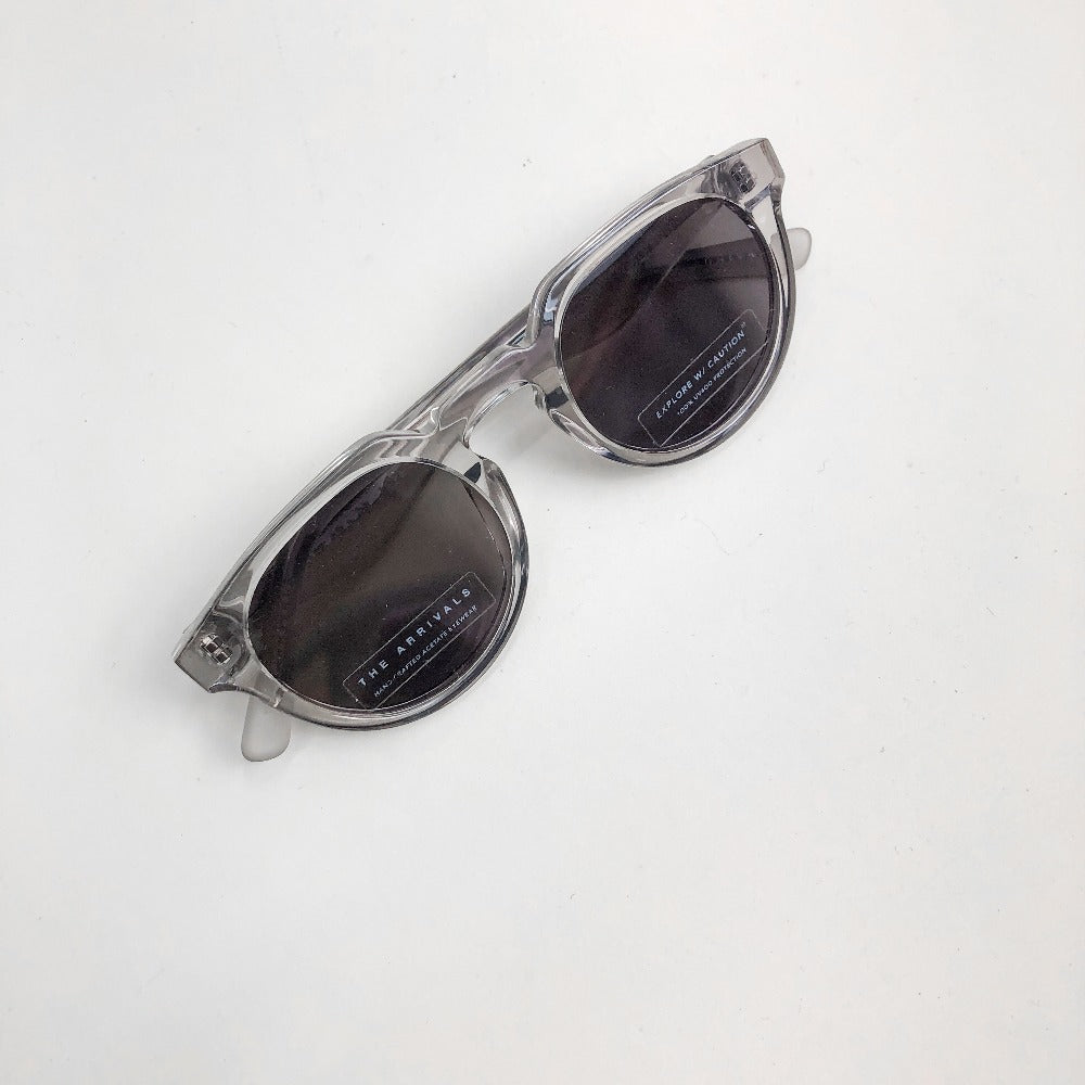 The Arrivals Zonne Clear Round Sunglasses Full