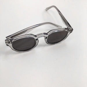 The Arrivals Zonne Clear Round Sunglasses Top Shot