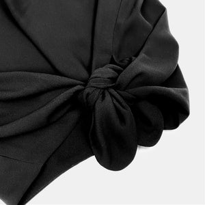 Babaton Black Side Tie Top Close Up