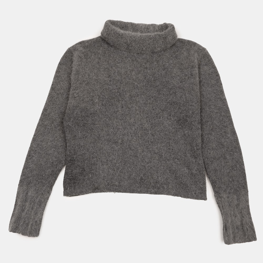 Q&A Grey Angora Wool Turtleneck