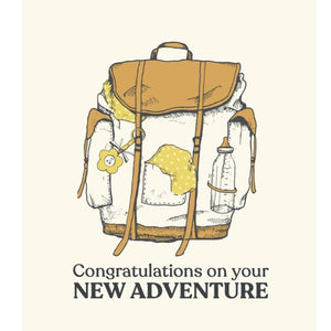 The Good Days Print Co. New Baby Adventure Congratulations Card