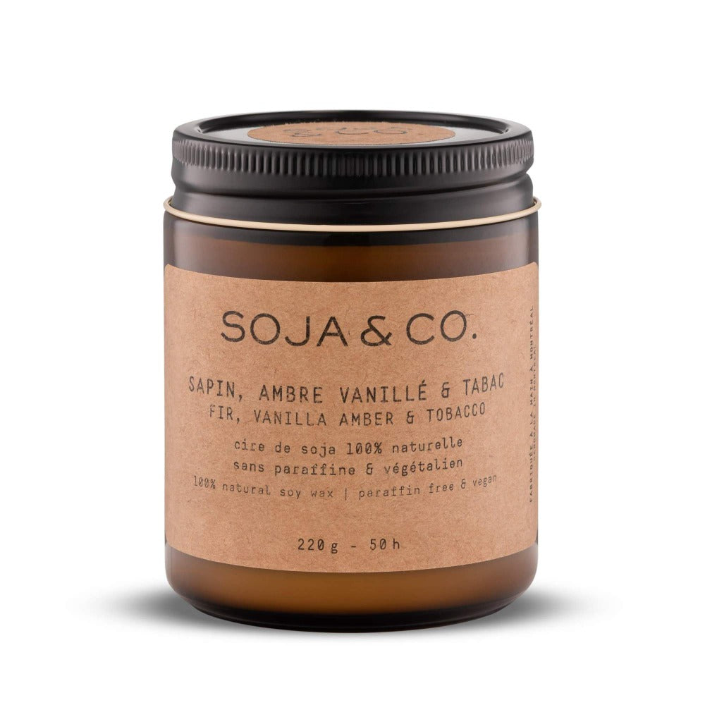 Soja & Co. Fir, Vanilla Amber + Tobacco Soy Candle
