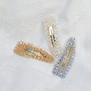 Hunter & Hare Crystal Beads Hair Clips