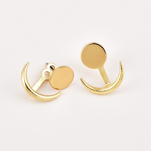 Hunter & Hare Minimal Sun + Moon Jacket Earrings