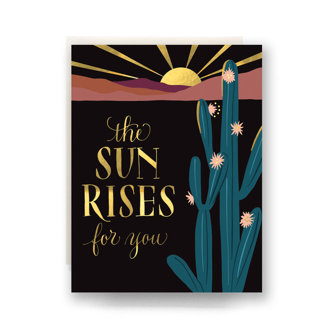 Antiquaria The Sun Rises For You Greeting Card