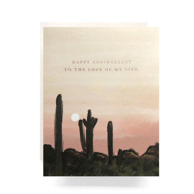 Antiquaria Desert Sunset Anniversary Card