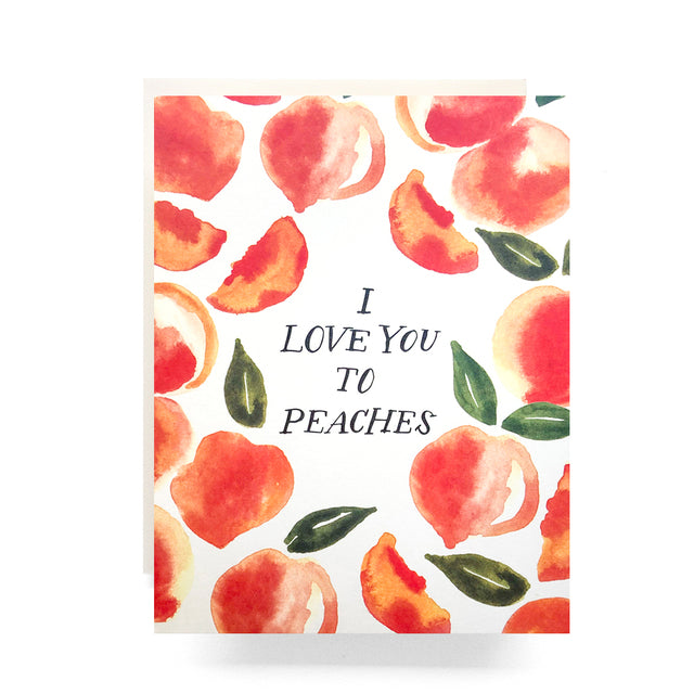 Antiquaria Love you to peaches greeting card