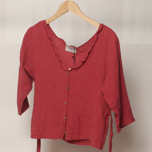 Loup - Red Puckered Tied Blouse