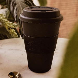 Mimi & August Cafe Yo Reusable Bamboo Cup Black