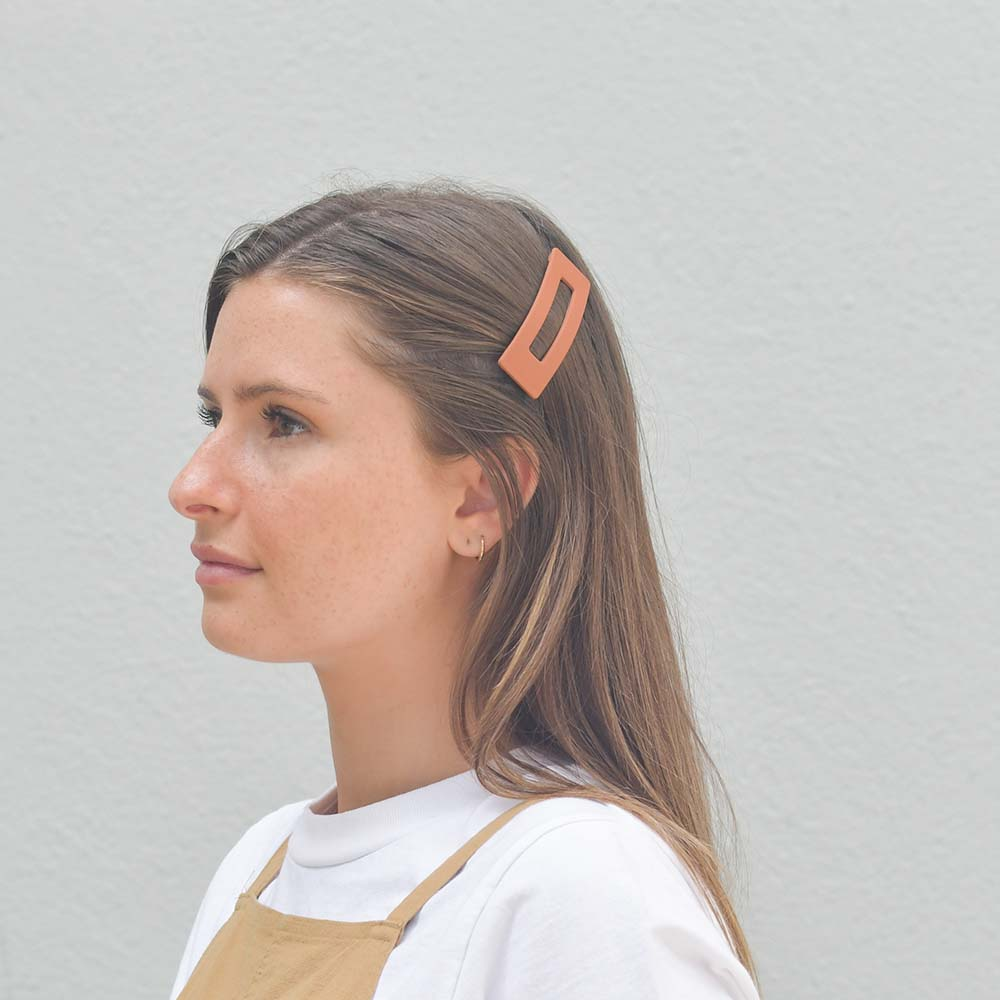 Hunter & Hare Matte Rectangle Hair Clip Model