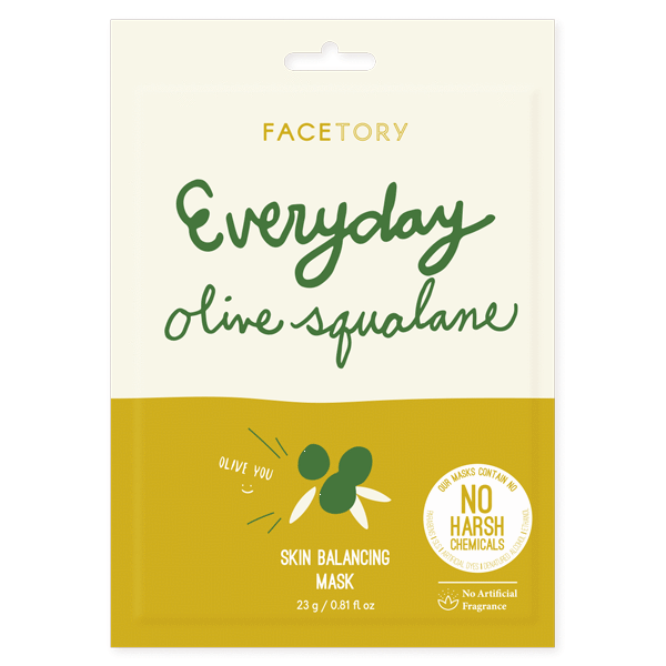 Facetory Everyday Olive Squalane Sheet Mask