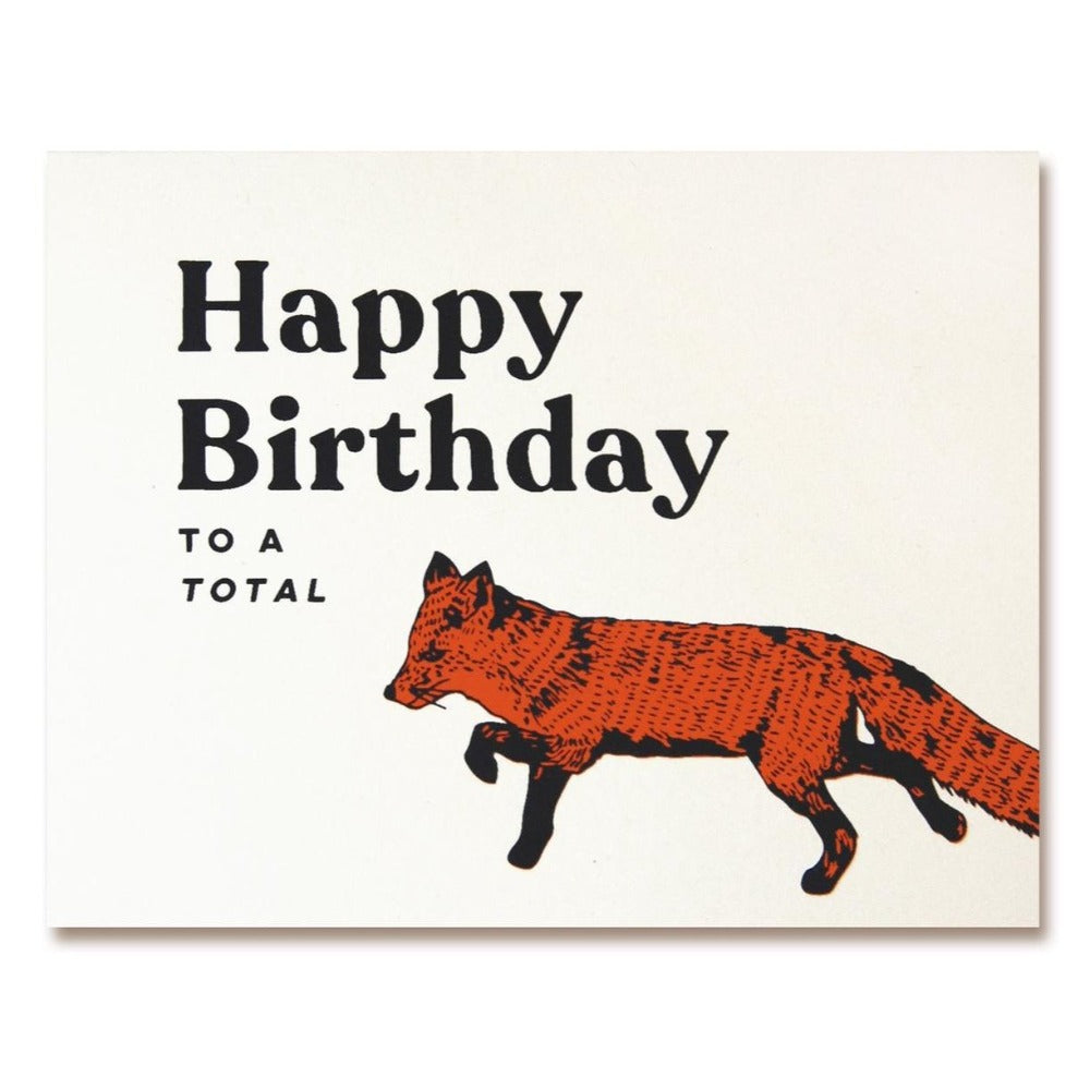 The Good Days Print Co Total Fox Birthday Card