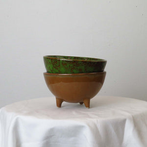 Design Home Small Footed Bowl with Reactive Glaze Lifestyle