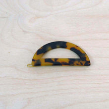 Hunter & Hare Half-Moon Brown Tortoise Resin Hair Clip