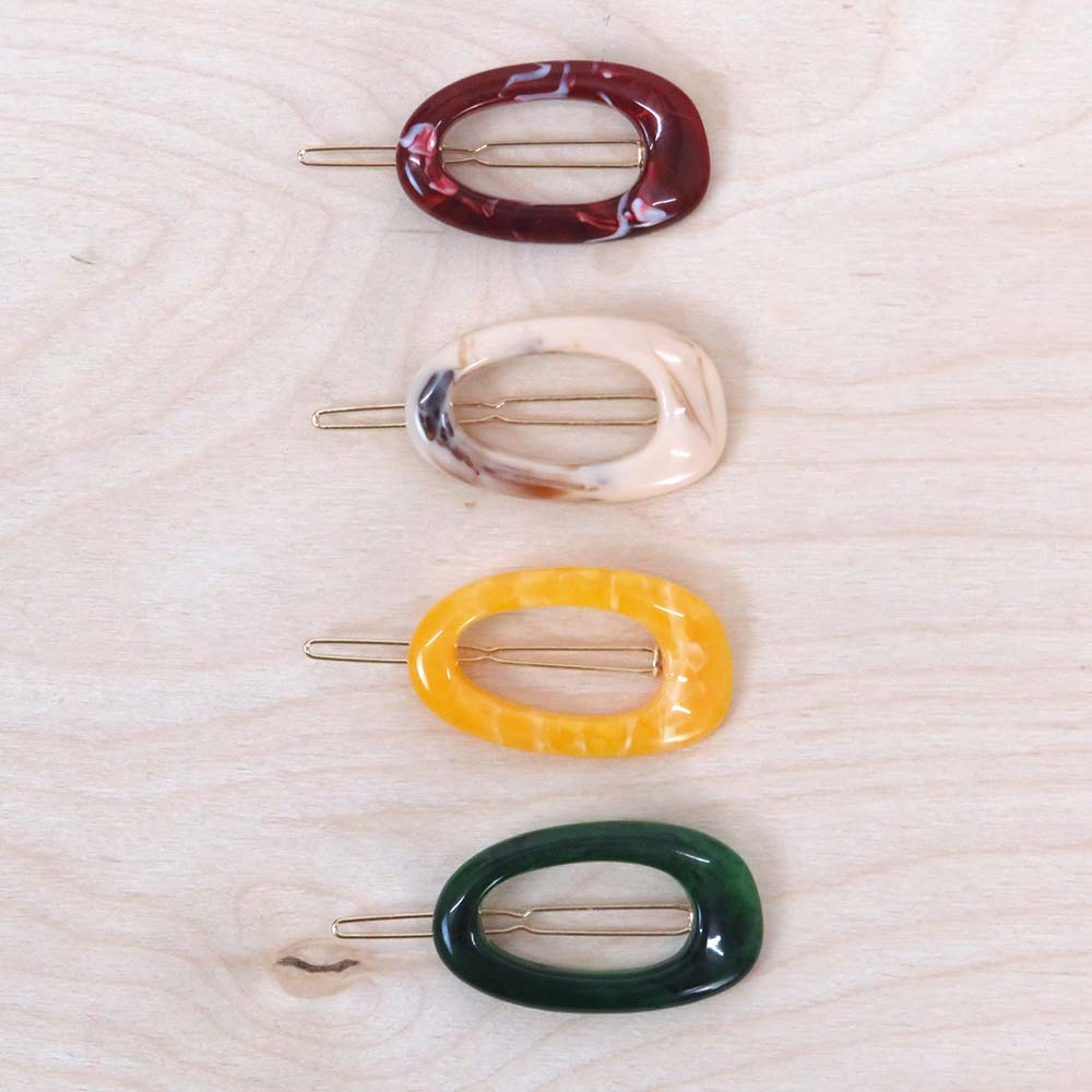 Hunter & Hare Colorful Oval Hair Clips