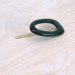 Hunter & Hare Emerald Green Colorful Oval Hair Clip