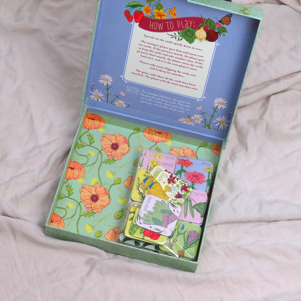 Raincoast Books Grow A Garden Matching Game Inside