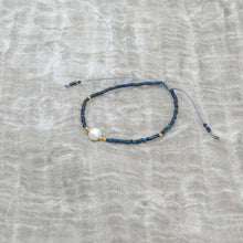 Hunter & Hare Single Pearl Beaded Friendship Bracelets Blue