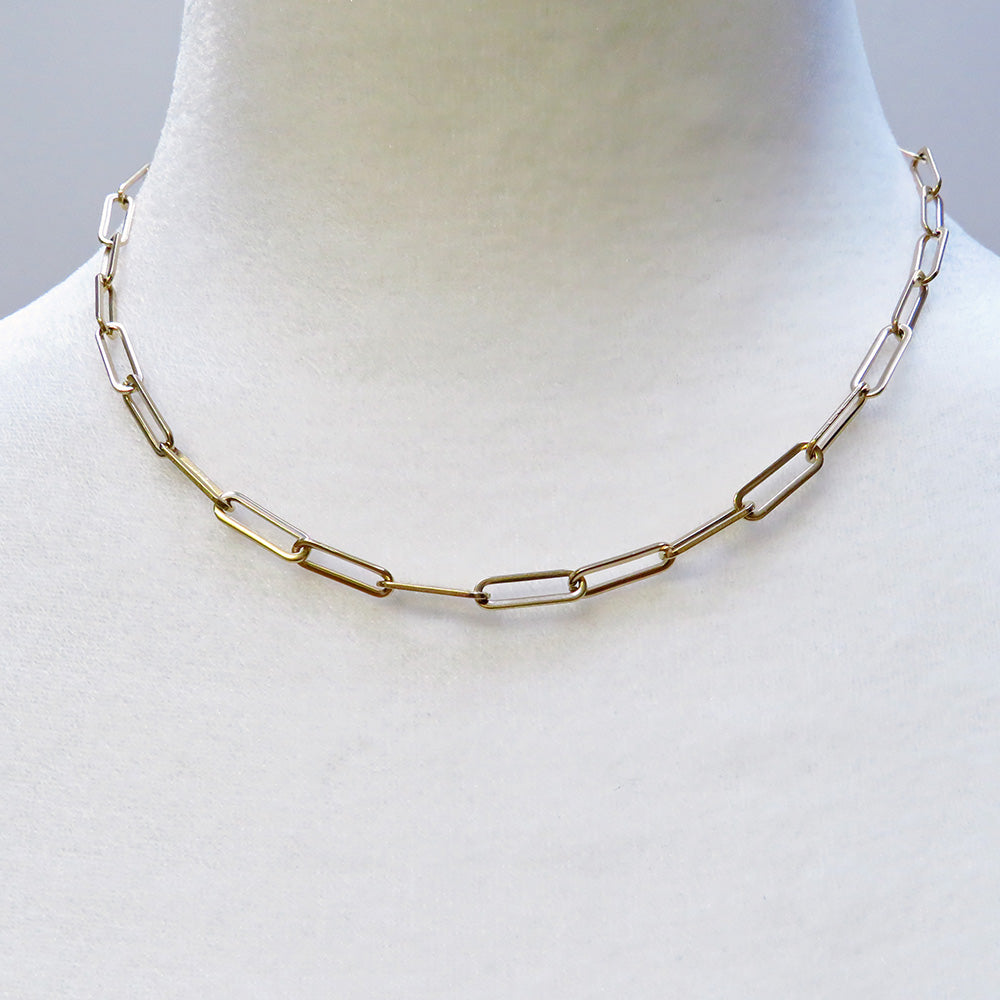 Elongated Chain Link Necklace