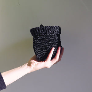 CTG Brand Hunter & Hare Woven Pot Holder in Black Small