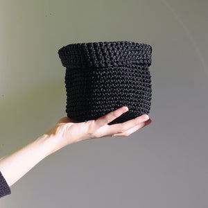 CTG Brand Hunter & Hare Woven Pot Holder in Black Medium