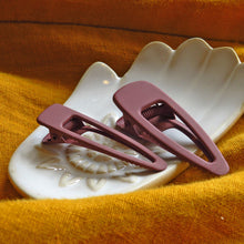 Hunter & Hare Terrene Matte Hair Clip Set Maroon