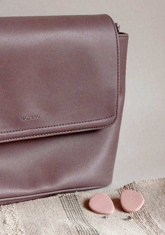 Matt & Nat - Mauve Vegan Leather Cross Body Bag