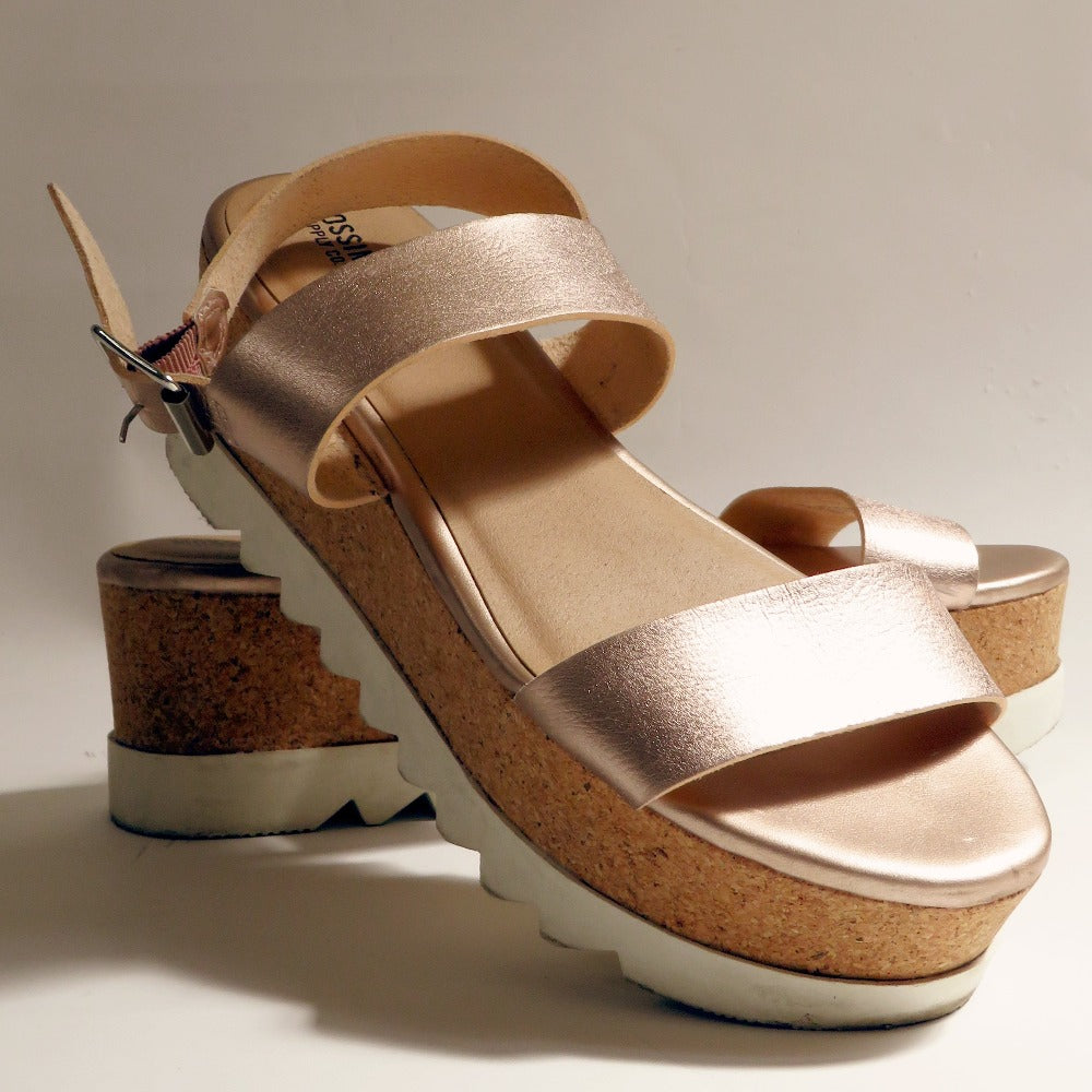 Mossimo - Rose Gold Platform Sandals