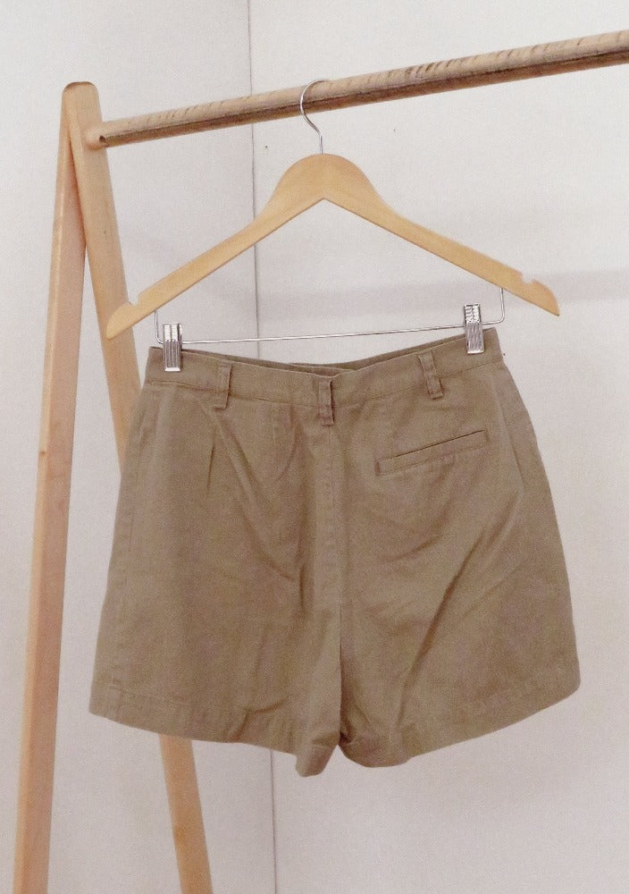 Hechter Jeans - Beige Cotton High Rise Shorts