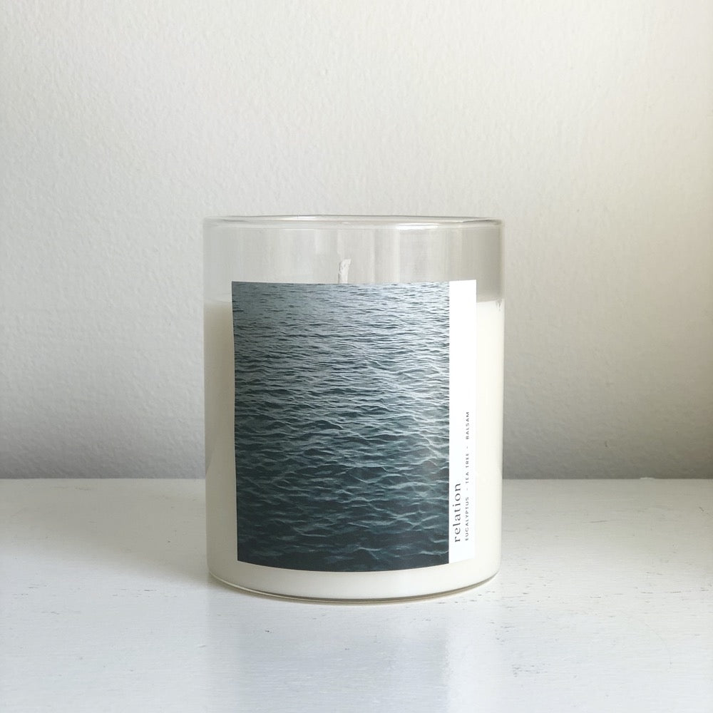 Relation Candles:  09:Ocean - Eucalyptus, Tea Tree, Balsam