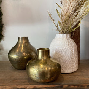 Creative Co-Op Hammered Metal Vessels