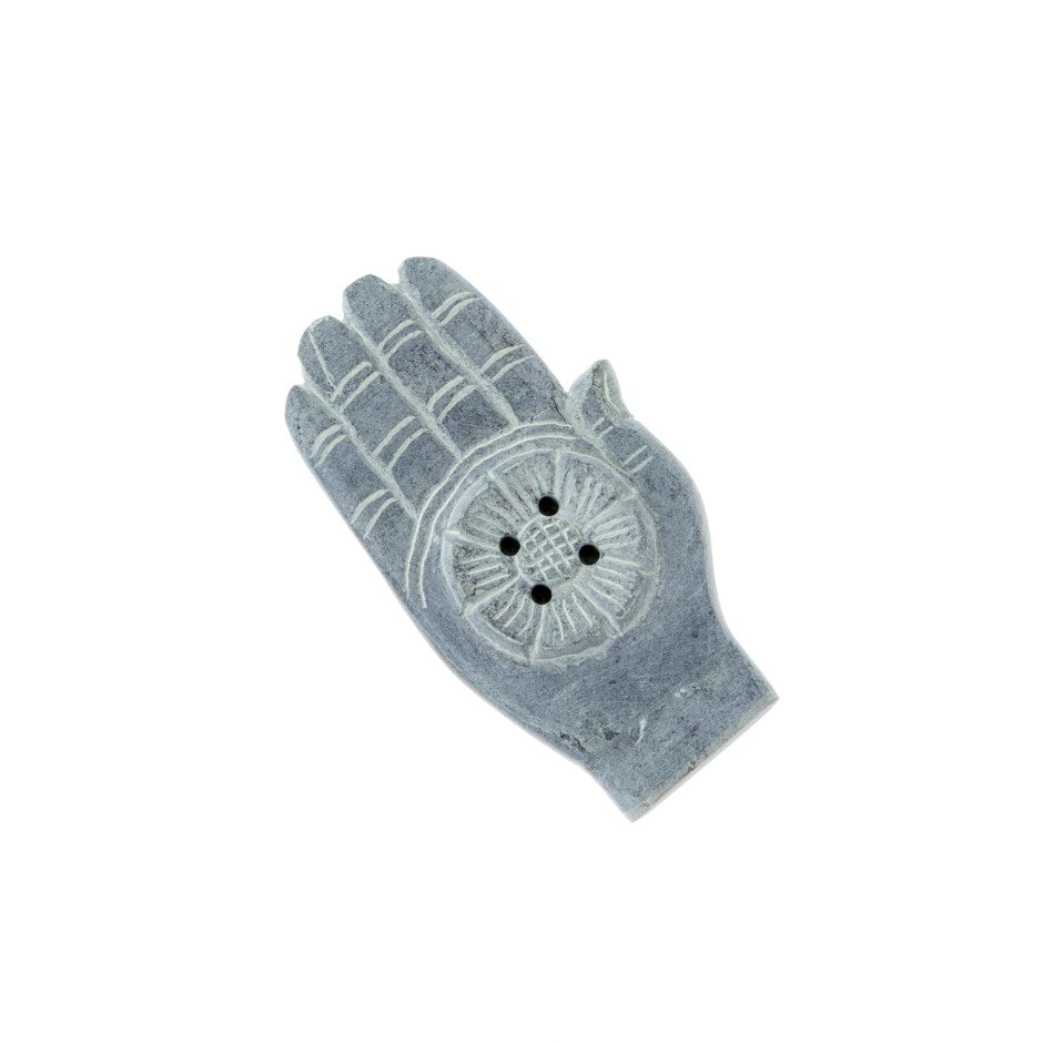 Soapstone Hand Incense Holder