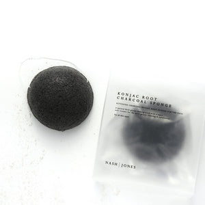 Nash and Jones Konjac Face Sponge with Activated Charcoal Vegan Cruelty Free