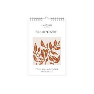 Lake Erie Designs Golden Earth 2021 Wall Calendar