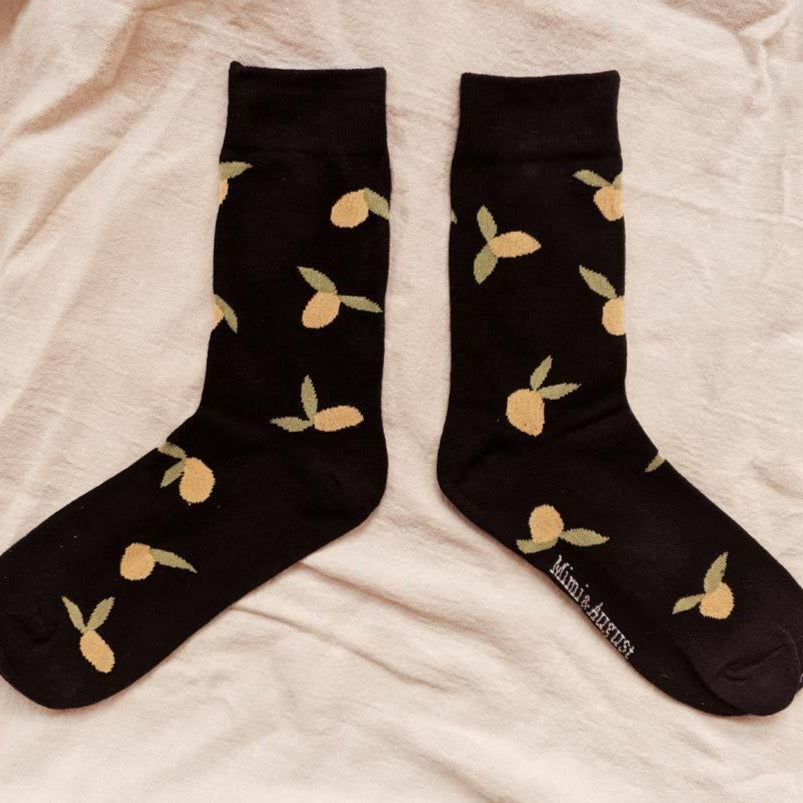 Mimi & August - Navy Lemon Socks