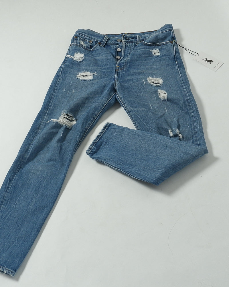 Levi's - Blue Distressed Skinny Jeans