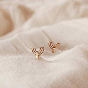 Mimi & August Reverse Rainbow Stud Earrings
