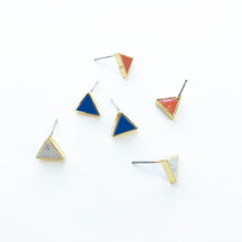Moonlight for Violet - Triangle Clay-Filled Studs